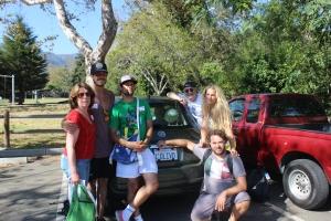 Barbara, Andrea, Jacopo, Bill, Ginevra e Sergio alla Ferragosto a Santa Barbara