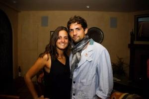 Giulia con Jacopo a Santa Barbara