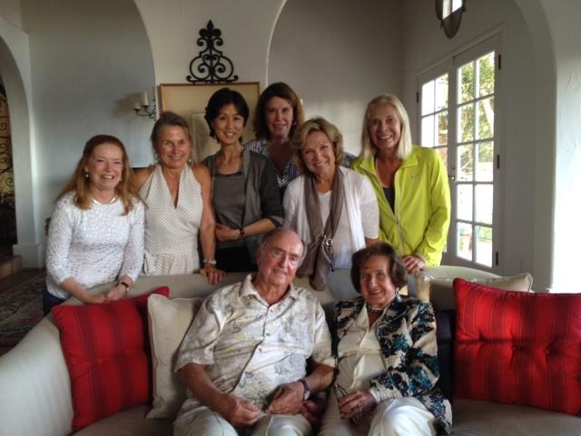 Walter e Elinor de Hoog con Mary Smith, Mary Heebner, Susette Naylor, Barbara Hill-Vollero, Susan Keller, Prudy Squier