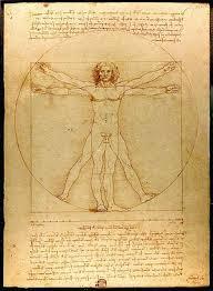 Leonardo da Vinci: Vitruvian Man (1490)